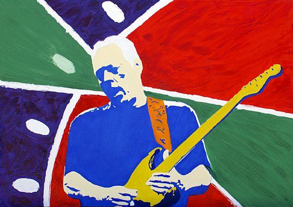 Ritratto di David Gilmour, olio su tela, di Nino Argentati