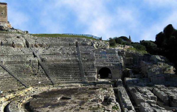 Il teatro greco di Siracusa - Uno scorcio
