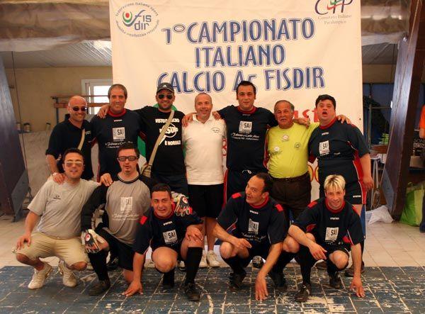 La squadra di Calcio a 5 dell'Associazione Vita Nova